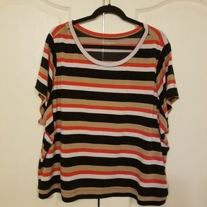 Multi color striped blouse Lane Bryant sz 26/28